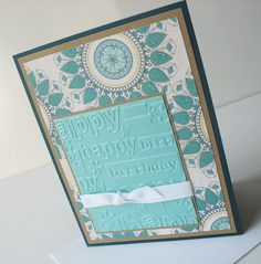 Birthday Greeting Card: Handmade Blank Birthday Note Card - Teal'icious