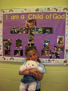 Idea of the Month: Child of God - Each child is focal point each week. Last year the kiddos were so eager to be helpers (passing out crayons, pencils, etc). This might be good way to manage helpers