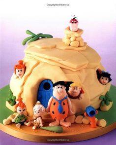 Amazing Flintstones Cake by Debbie Brown Gorgeous Cakes, Pretty Cakes, Cute Cakes, Amazing Cakes, Crazy Cakes, Fancy Cakes, Pink Cakes, Fondant Cakes, Cupcake Cakes