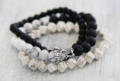 Lucky bracelets SET Unisex Mala Prayer Beads Dragon Bracelets & Bangles Men Classic Women's Fashion Yoga Jewelry Natural Stones Lucky Gifts by catlovershop on Etsy