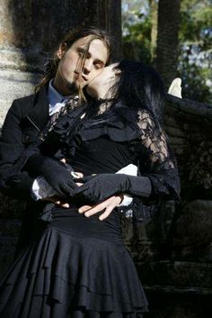 goth couples | Lovely Goth Couple - Goth Style Picture