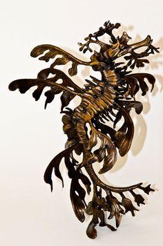 Bronze leafy sea dragon sculpture by Kirk by KirkMcGuireSculpture, $3000.00