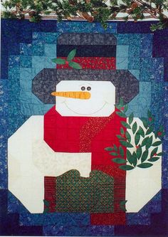 snowman wall hanging pattern - free | My Snowman Quilt Pattern With FREE Buttons by prairiegrovepeddler