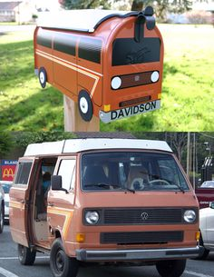 EXAMPLE - Custom Made To Order Volkswagen Bus Mailbox by TheBusBox - EXAMPLE - Choose Your Color - CustomBox. $134.00, @Etsy     #TheBusBox #Volkswagen #VW #Mailbox #Volkswagon #Bus #Letterbox #Mail #Etsy #Camper #Westfalia #Wesfalia #Westy #Camp #Vanagon