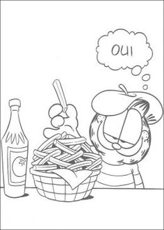 garfield kids coloring pages free colouring pictures to print
