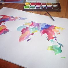 watercolor world