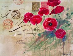 """Red Poppies:  Love letter...  30"""" x 40"""""""