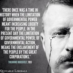 ~ Theodore Roosevelt, 1913.  It is amazing how true this is today.