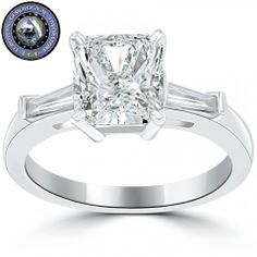 2.53 Ct. EGL Certified I-SI2 Radiant Cut Diamond Engagement Ring 14k White Gold - Liori Exclusive Engagement Rings - Engagement - Lioridiamonds.com