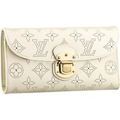 Louis Vuitton Outlet Mahina Leather Amelia Wallet M58132 $152.44 Without Colorful Life!