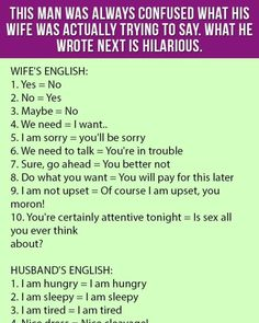 Wife Vs Husband English from the best in Lagos, Nigeria - Queeneth Online Wife Memes Funny, Funny Long Jokes, Wife Humor, Hilarious, Positive Quotes For Life, Motivational Quotes For Success, Inspiring Quotes About Life, Inspirational Quotes, Jokes About Men