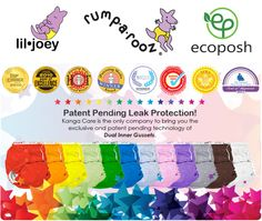 Kanga Care Cloth Diapers & Accessories - Rumparooz One Size Cloth Diaper, LilJoey Newborn & Preemie Cloth Diaper and EcoPosh Organic Cloth Diapers & Training Pants