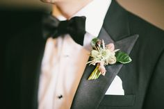 Thistle and Leaf Boutonniere
