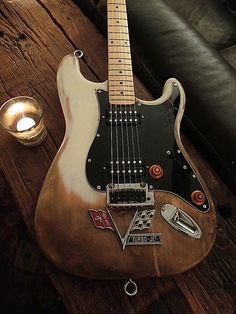 SRV stylin'1976 fender strat body  with maple Ibanez neck Custom by Matt Dougan get it at IronCrowVintage