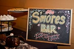 A S'mores Bar is the perfect treat for your Fall Wedding!