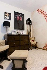 This toddler's baseball themed bedroom is fun, but mature.