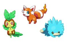 Pkmn QT : Toshu Region Starters by =Daybreak-Machine on deviantART