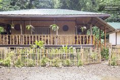 Entire home/apt in Puerto Princesa, Philippines. Our property is a no-frills but comfortable Nipa Hut that lets you enjoy the tranquility of Puerto Princesa in Palawan, without having to compromis. 1 Bedroom House Plans, Bungalow House Plans, Bureau Design, Bahay Kubo Design Philippines, Filipino House, Hut House, Farm House, Tiny House, Front Door Design Wood