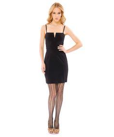 Betsy Johnson - ponte v-fron sheath dress