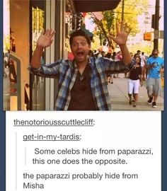 Oh Misha. Misha, Misha, Misha. I love you.