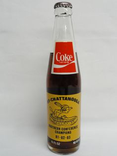 Vintage Collectible UT-Chattanooga Coca-Cola Bottle Southern Conference Champion