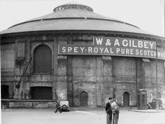 The Gilbey Brothers, Walter and Alfred, were wine merchants. By they were storing spirits in the Roundhouse. (Image courtesy of Camden Local Studies and Archive Centre) Camden London, Camden Town, North London, Old London, West London, London Pictures, London Photos, Old Pictures, Old Photos