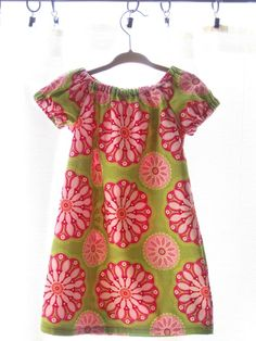 Sweet Lime & Pink Dress by ATFrey on Etsy
