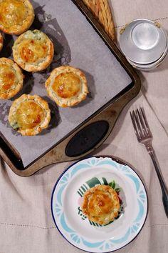 Ponto de Rebuçado Receitas: Empadas (rápidas) de frango, cogumelos e espinafre...