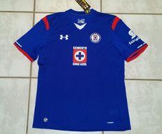 NWT UNDER ARMOUR Cruz Azul Mexico  Soccer Jersey Men's XL  #UnderArmour #Cruzeiro