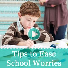 See 4 tips to help ease your kid's classroom worries.