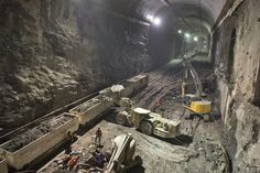 Amazing subway tunnels - great photos and story of NYC's current tunnel project