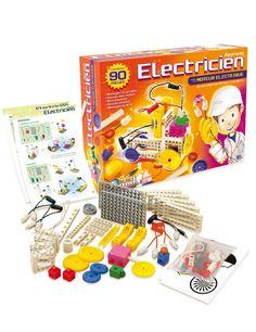 10 modèles à assembler pour aborder et comprendre les notions élémentaires d'électricité. #electricien #construction #electricité