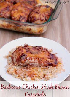 Barbecue Chicken Hash Brown Casserole. An easy and delicious one dish meal that is made with Ore Ida Hash Browns. #OreIdaHashbrn #shop #cbias