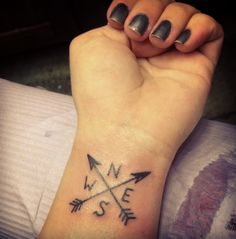 West North East South Tattoo http://tattoos-ideas.net/west-north-east-south-tattoo/ Wrist Tattoos