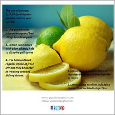 The uses of lemons.