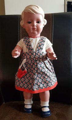 Große 49 cm blonde schöne Puppe Schildkröt Inge 1933-38 Celluloid Top Zustand   eBay
