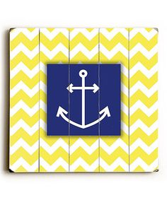 Zigzag Anchor Wall Art by ArteHouse on #zulily