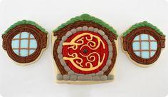 Cookies Shaped Like Hobbit Hole Doors