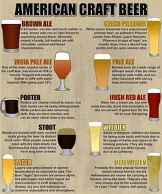 3American craft beer imported styles