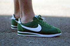 delicious green Nike Cortez