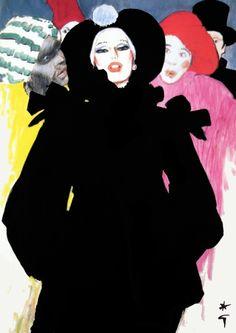 Carnaval de Venise by René Gruau, a renowned fashion illustrator (1909-2004)  http://www.renegruau.com