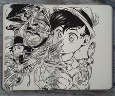 #138 Pinocchio by Picolo-kun Art Disney, Disney Fantasy, Vexx Art, Ink Art, Disney Drawings, Art Drawings, Art Studio Organization, Otto Schmidt, Illustrations