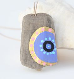 painted driftwood - pendant - by JEVO