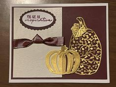 Fall Cards, Holiday Cards, You Are An Inspiration, Scrapbook Cards, Scrapbooking, New Things To Try, Pumpkin Cards, Stamping Up Cards, Christmas Minis