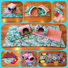 These small pet fleece sets from Piggiepopshop are so beautiful.