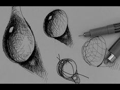 Pen & Ink Tutorial | How to draw a water drop