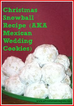 ... | Mexican wedding cookies, Mexican weddings and Snowball cookies