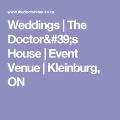 The Doctor's House offers a romantic ambiance for your upcoming wedding. Complete with five unique halls and a quaint vintage wedding Chapel. Chapel Wedding, Wedding Venues, Event Venues, Gta, Corporate Events, Romantic, Weddings, House, Wedding Reception Venues
