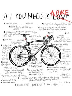 but I REALLY DO NEED my bike too.AND i'm kinda lost without my Garmin.and shoes, sunnies, gloves etc, etc Our t shirts are screen printed using water based inks giving the print a soft feel that ages over time with the tee. Cycling Motivation, Cycling Quotes, Cycling Art, Cycling Bikes, Mtb Bicycle, Bicycle Quotes, Cycling Equipment, Bicycle Art, Velo Biking