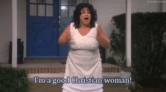 """""""I'm a good Christian woman!"""" - Divine (as Francine Fishpaw) in John Waters' Polyester, 1981 Stiv Bators, Teddy Bear Costume, Rose Bonbon, Mink Stole, I Have A Boyfriend, John Waters, Youre Mine, Creatures Of The Night, Funny As Hell"""